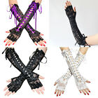 US 15.3'' Women's Sexy Elbow Length Fingerless Lace Up Arm Tie Long Lace Gloves