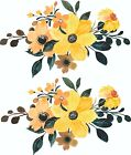 2 X Flower Stickers Wall, Laptop,mirror, Furniture, Decal, Home, Crafting