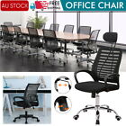 1x Office Game Chair Gaming Chair Computer Mesh Chairs Executive Mid Back Black