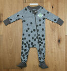 Burt's Bees Baby Boy Zip Up Snug Fit Coverall ~ Gray ~ 0-3M ~