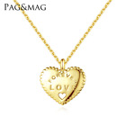 S925 Sterling Silver Infinity Forever Love Heart Pendant Necklace Chain Box A29