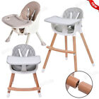 Baby High Chair Table Adjustable Chair Height Safety Belt Toddler Feeding Tray