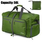 50L Waterproof Duffel Backpack Bag Travel Weekender Bag with Shoes Compartment