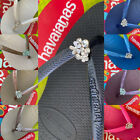 Original HAVAIANAS Flip Flops Women Slim with Crystal and Personalized Charm