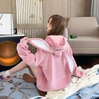 Cute Rabbit Ear Women Pullover Sweater Hoodie Jersey  Velvet Thick Long Sleeve