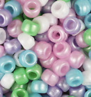 100 Pony Beads 9 x 6MM With 4mm Large Hole high Quality Kid Crafts USA