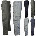 Mens Elastic Waist Tactical Cargo Combat Pants Sports Casual Trousers Bottoms