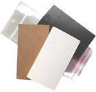 Jewellery Display Cards Earring Plain With Bags 9cm X 5cm  Black White Or Brown