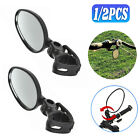 1/2x Bicycle Rearview Glass Wide Range Cycling Bike Handlebar Rear View Mirror