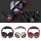 Wireless  Wired Bluetooth Headset Over Ear Folding Soft Earmuffs for TV/PC