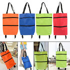 Collapsible Shopping Pull Cart Trolley Bag Food Organizer Oxford Cloth 600D