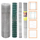 Galvanised Roll Welded Netting Wire Fencing Mesh Aviary Pet Garden Fence Border