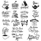Wall Art Stickers For Kitchen, Removable Home Decor Quality Diy Decal Quotes 158