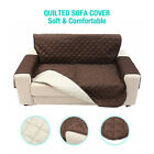 Pet Dog Sofa Cover Chair Couch Slipcover Kids Mat Furniture Protector Soft Brown