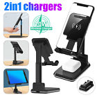 2in1 Qi Wireless Fast Charger Dock Charging Stand Pad for Samsung iPhone Air Pod
