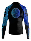 Raven Fightwear Women's Aztec Ranked MMA BJJ Rash Guard Blue