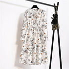 Vintage Ladies Womens Floral Summer Long Dresses Beach Midi Dress Chiffon 8-14