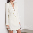Womens Long Sleeve One Button Lapel Collar Blazer Coat Dress OL Spring Jacket SZ
