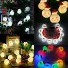 10Leds String Light Snowman Fairy Indoor Christmas Lights Party Home Decor