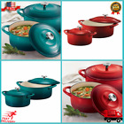 Tramontina Enameled Cast Iron Dutch Oven 2-pack Choice Of Colors *FREE SHIPPING*