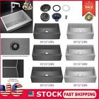 New Deep Top Mount Drop In Stainless Steel Single Bowl Kitchen Sink Variety Size