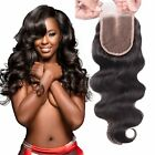 EVA HAIR Brazilian Body Wave Top Closure Unprocessed Human Hair Lace Closure