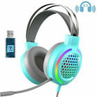 7.1 Stereo Gaming Headset Noise Cancelling Over Ear Headphones RGB with Mic US