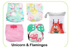 14pc Pack Full Set Newborn Cloth Diaper Pocket & All-In-One AIO, Wet bag, Liner
