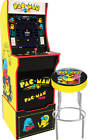 Arcade1up Arcade Machine, Mortal Kombat or Pac Man with Riser, Marquee and Stool
