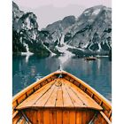 Paint By Numbers Adults kids Sail away Lake Boat DIY Painting Kit 40x50CM Canvas