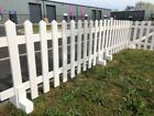 White Primed Free Standing Picket Fence Panel WITH FEET