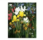 Paint By Numbers Adults kids White Yellow Flower DIY Painting Kit 40x50CM Canvas