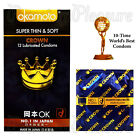 Okamoto Crown condoms Super thin  Soft Ultra sensitive Lubricated Japan BX12