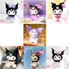 Anime Kuromi Baby Plush Soft Doll Toy Kids Gift Collection Pink Purple Bow Skirt