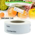125 Pcs Food Labels, 2.5 7.5cm Food Storage Labels Freezer Labels Removable