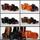 New leather case bag cover for Canon EOS 90D DSLR camera, black brown or coffee