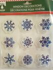 Merry Christmas Winter Snowmen and Snowflakes Gel Window Cling You Choose Design