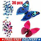 36pcs 3d Butterfly Wall Stickers Pvc Children Room Decal Home Decoration Decor