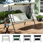 Garden Swing Chair 3 Seater Bench Outdoor Hammock Seat with Adjustable Canopy