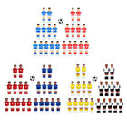 22 Pieces Foosball Men Player Football Players Figure with Ball Replacement