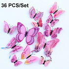 36pcs 3d Butterfly Wall Art Decals Stickers Removable Home Décor Room Decoration