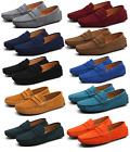 Hot Men's Minimalism Driving Loafers Slip on soft Suede moccasins penny shoes