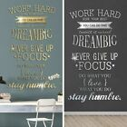 Home Wall Sticker Bedroom Quote Acrylic Removable Decals Art Home Decor