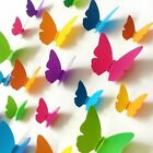 30pcs Wall Sticker Colorful Butterfly Art Decal Living Room Solid Pvc Home Decor