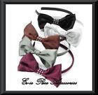 NEW LARGE DIAMANTE SATIN HAIR BOW ALICE BAND FASCINATOR