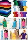 Fruit of the Loom FOTL Womens Plain T Shirt Ladies Top Lady Fit XS-XXL