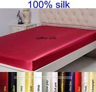 1 Pc 19mm Seamless 100% Pure Mulberry Silk Extra Deep Fitted Top Sheet All Size