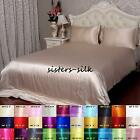 16mm 100% Silk Duvet Cover Flat Extra Deep Fitted Sheet Pillow Case Cover Sizes
