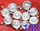 Wholesale 10X Round 13mm 1 string crystal Clasp-126