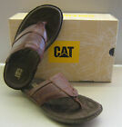 Caterpillar Mens Galley Brick Cracked Leather Sandals